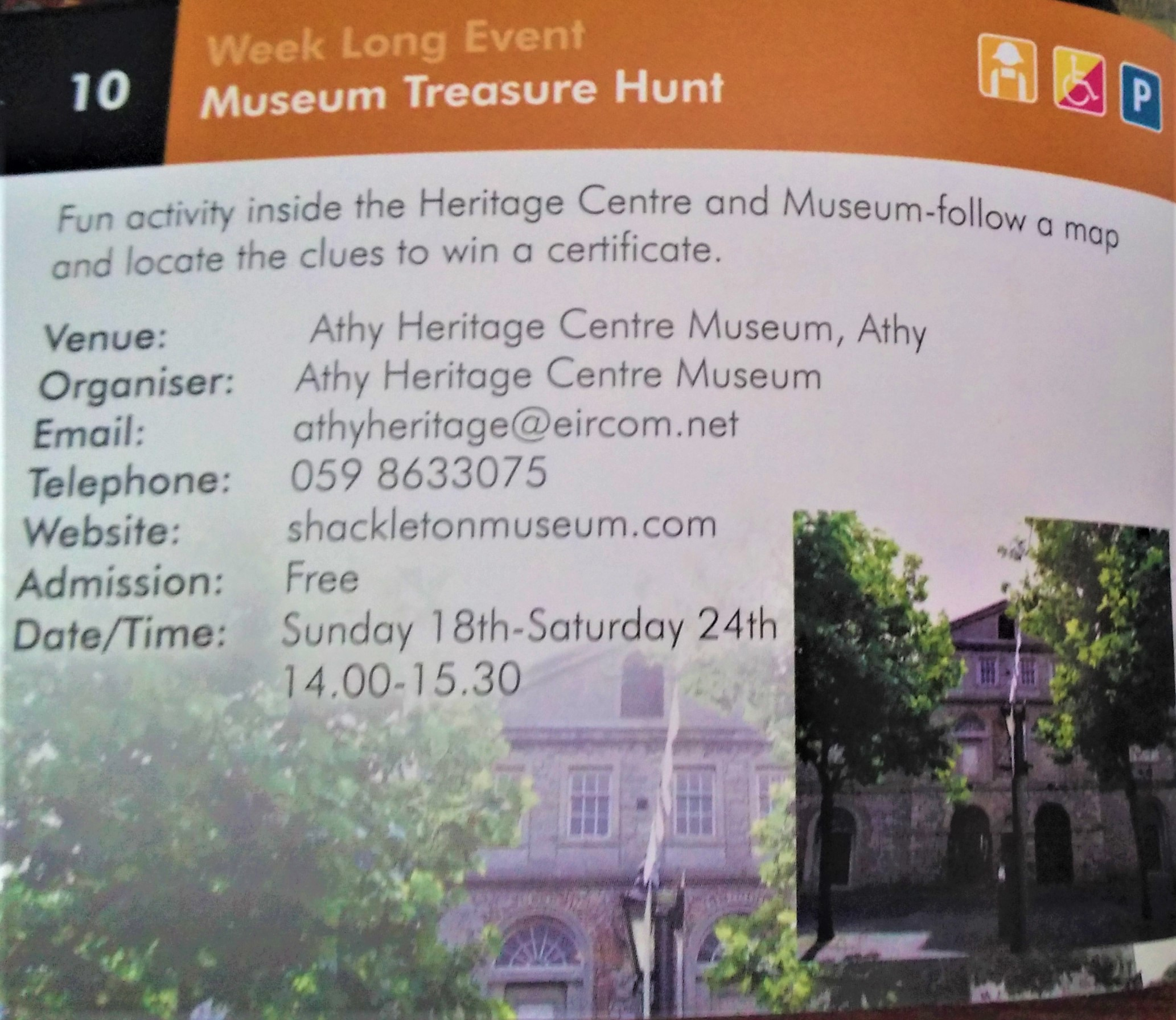 National Heritage Week 2019 17th – 25th August : Museum